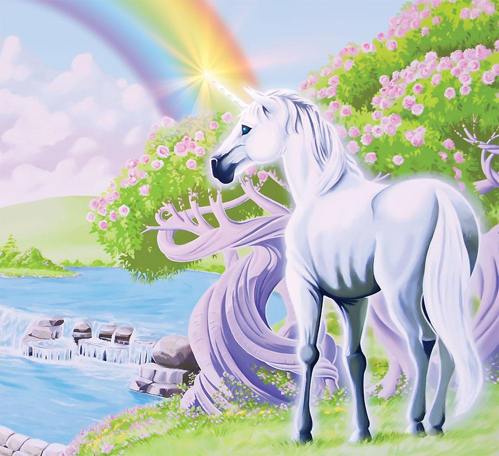 Coloriage Licorne Arc En Ciel à Imprimer