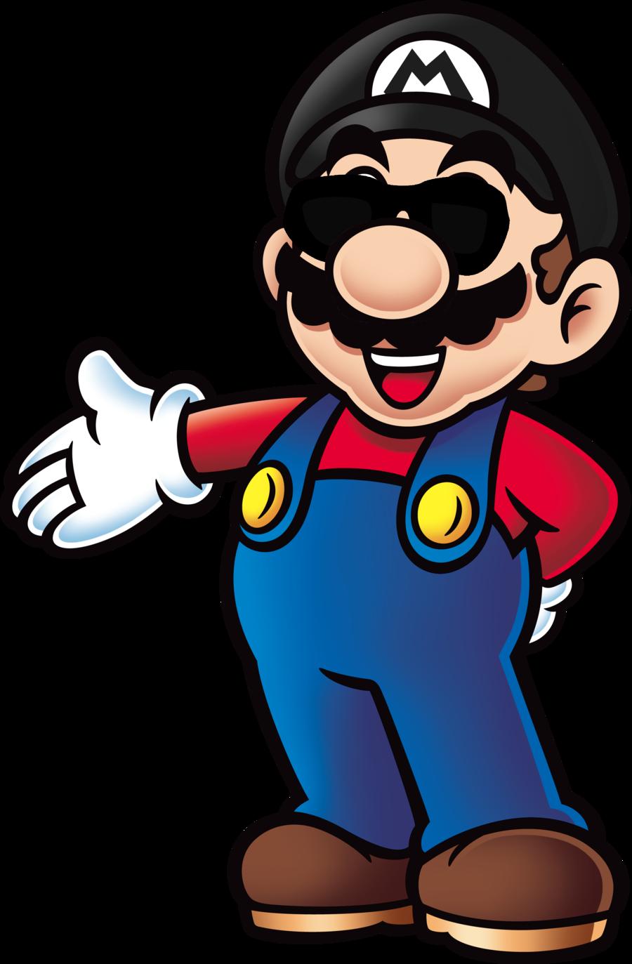 Coloriage Mario Swag à Imprimer