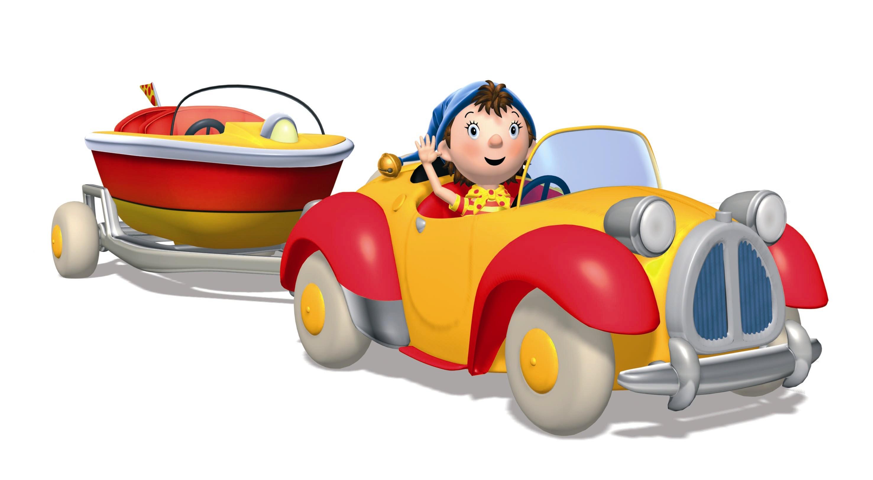 Coloriage oui oui dans sa voiture imprimer - Oui oui et sa voiture ...