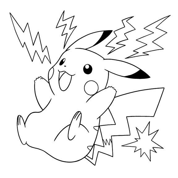 Coloriage pokemon pikachu car interior design - Pikachu coloriage ...