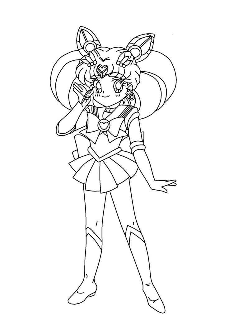 Sailor Chibi Moon coloriage
