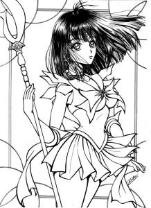 Sailor Saturn coloriage