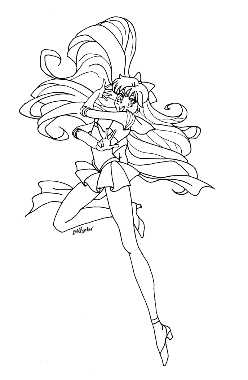 Sailor Venus coloriage