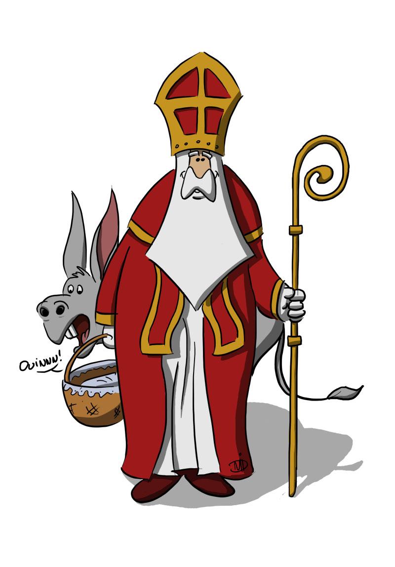 Coloriage Saint Nicolas Gratuit A Imprimer