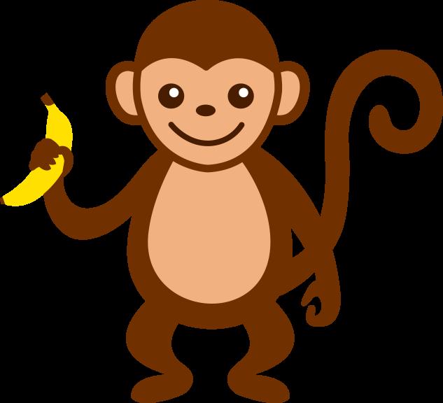 Singe banane dessin