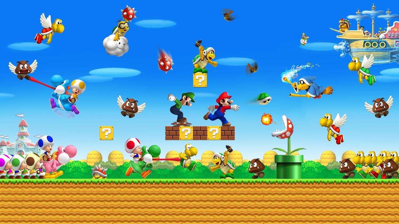 Coloriage Super Mario Bros A Imprimer