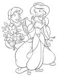 Aladdin Jasmine coloriage