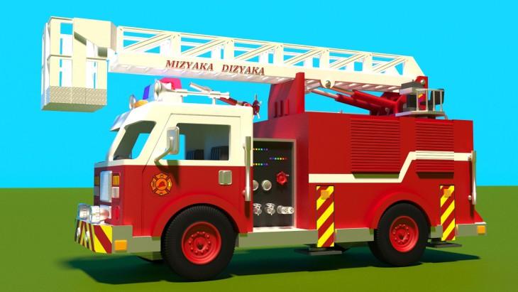 Coloriage pompier dans un camion imprimer - Dessiner un camion de pompier ...