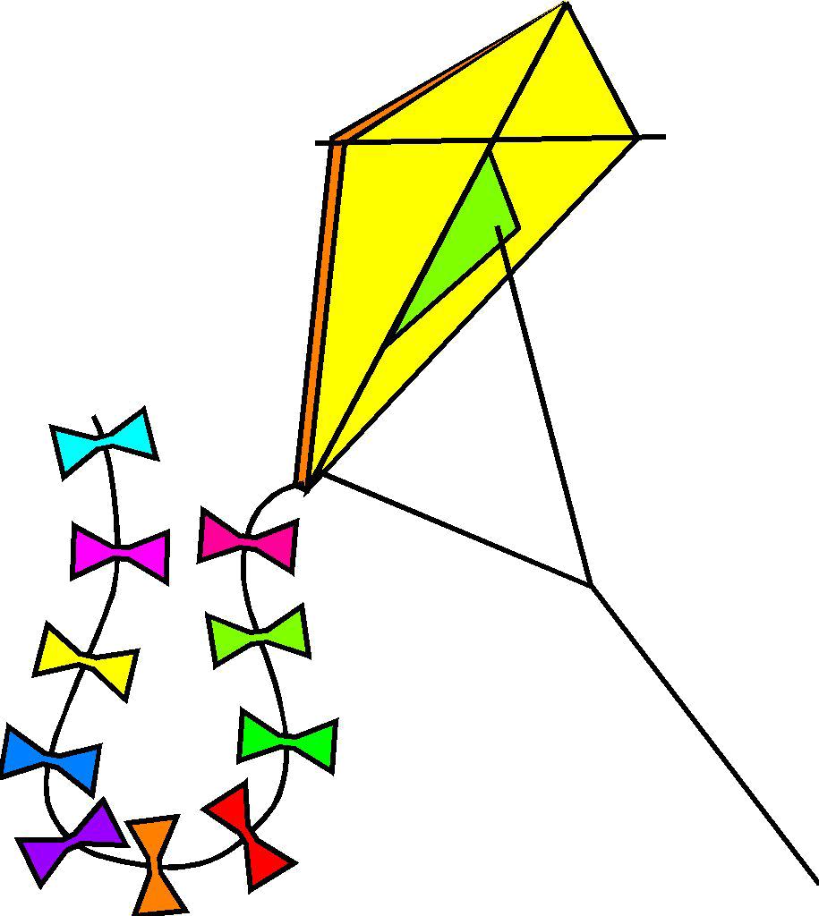 Coloriage Cerf Volant Et Dessin A Colorier