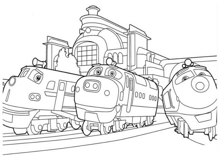 Coloriage chuggington gratuit imprimer - Train dessin anime chuggington ...