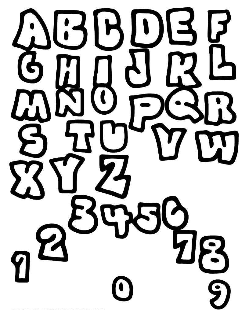 Coloriage alphabets