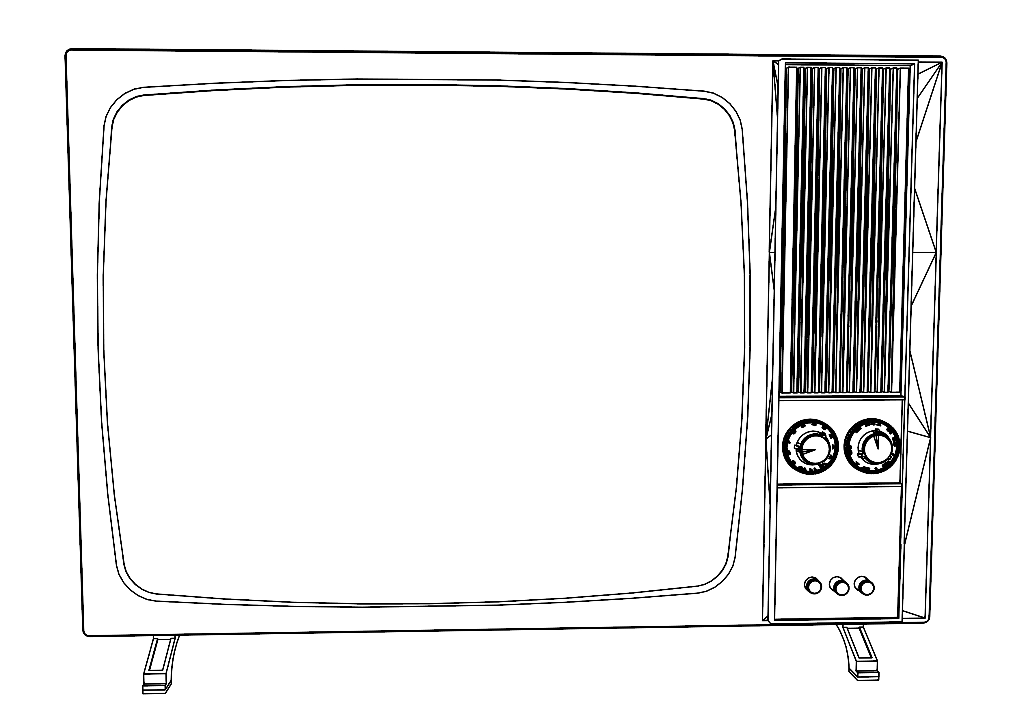 Coloriage ancienne television