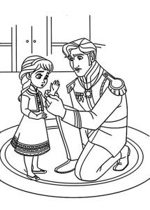 Coloriage Anna petite Disney