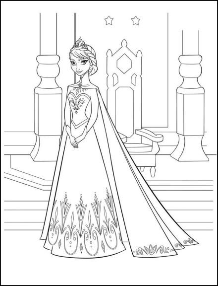 Coloriage Anna Princesse
