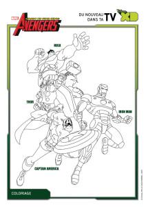 Coloriage Avengers héros