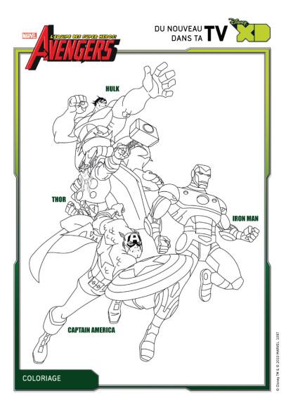 Coloriage avengers h ros imprimer - Coloriage avengers a imprimer gratuit ...