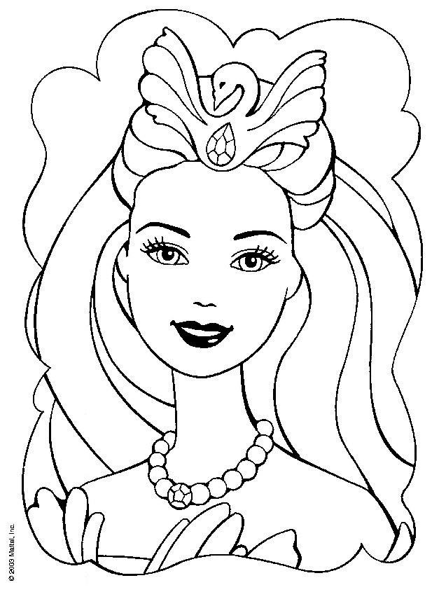 coloriage barbie avec des bijoux