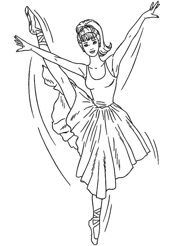 Coloriage Barbie danseuse
