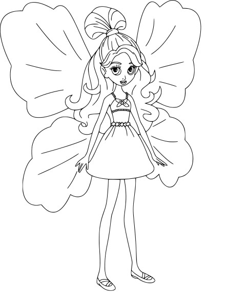 Coloriage barbie lilipucia imprimer - Dessin de barbie facile ...