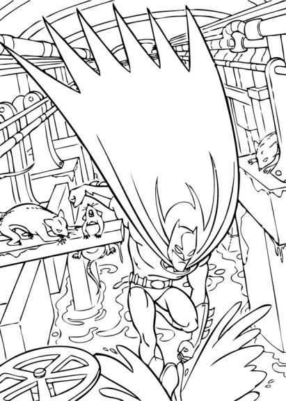 Coloriage Batman action