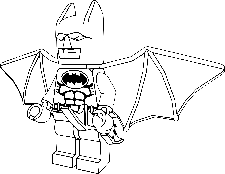 Coloriage Batman lego à imprimer