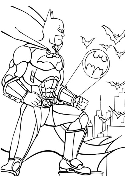 Coloriage Batman lumiere
