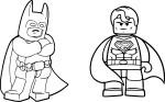 Coloriage Batman Superman lego