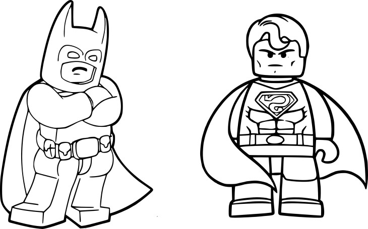 Coloriage Batman Superman lego