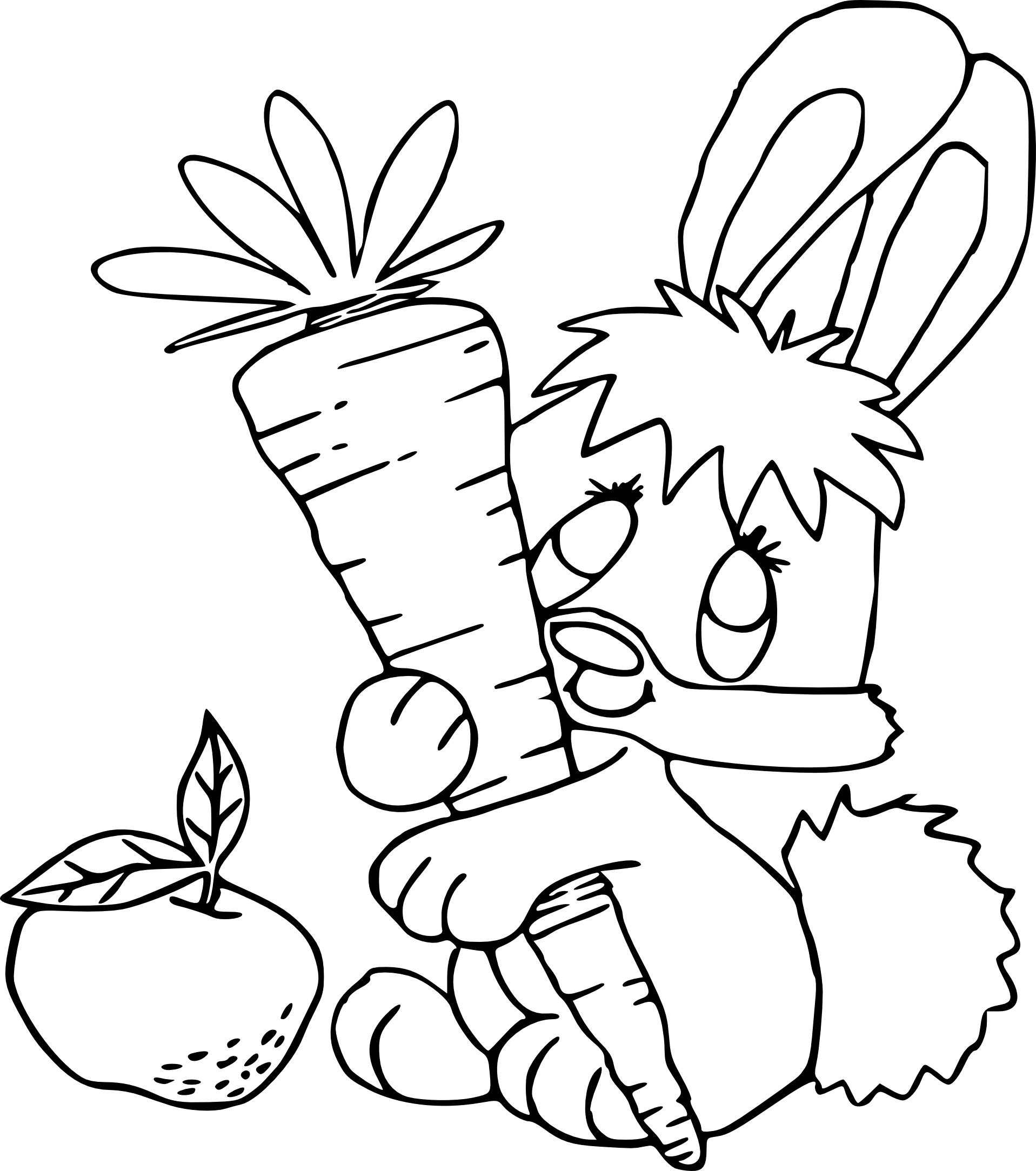 Coloriage bebe lapin à imprimer
