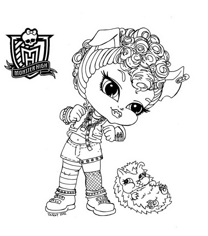 Coloriage bebe Monster High
