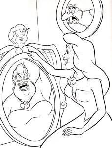 Coloriage belle Ursula