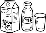 Coloriage bouteille de lait