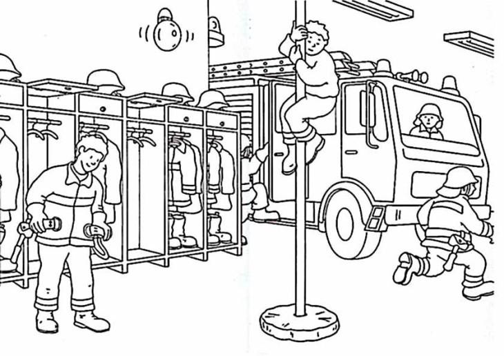 Coloriage caserne de pompier imprimer - Dessin pompier a imprimer ...