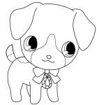 Coloriage chien mignon
