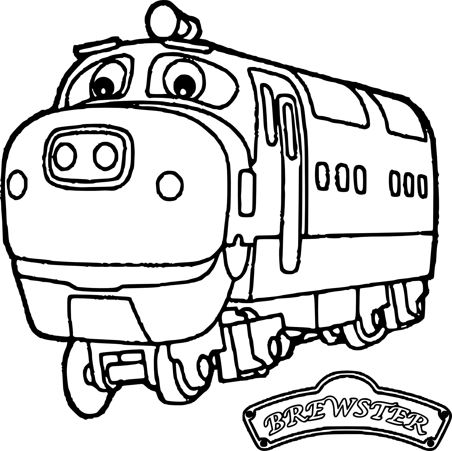 Coloriage Chuggington Brewster