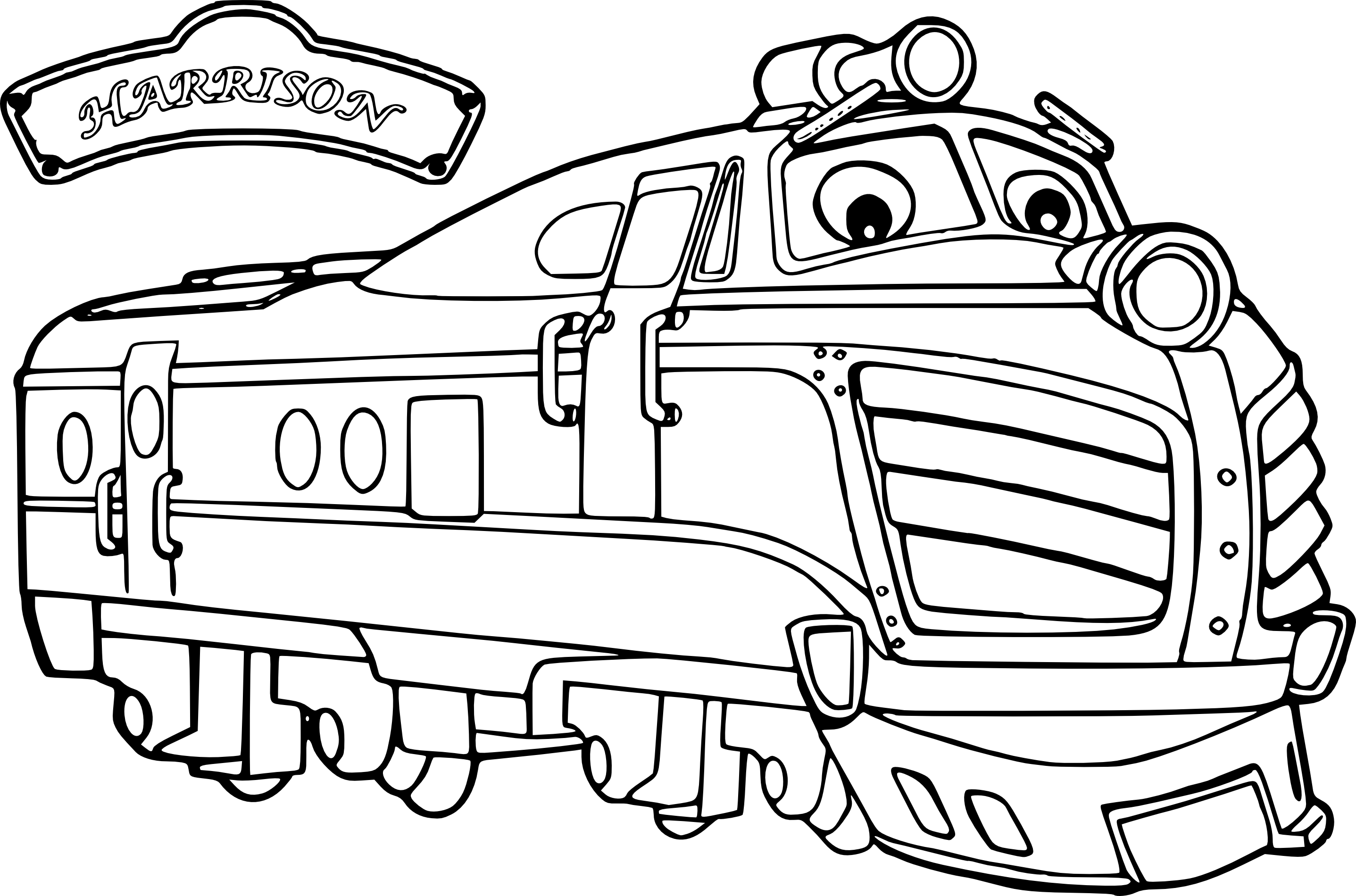 Coloriage Chuggington Harrison