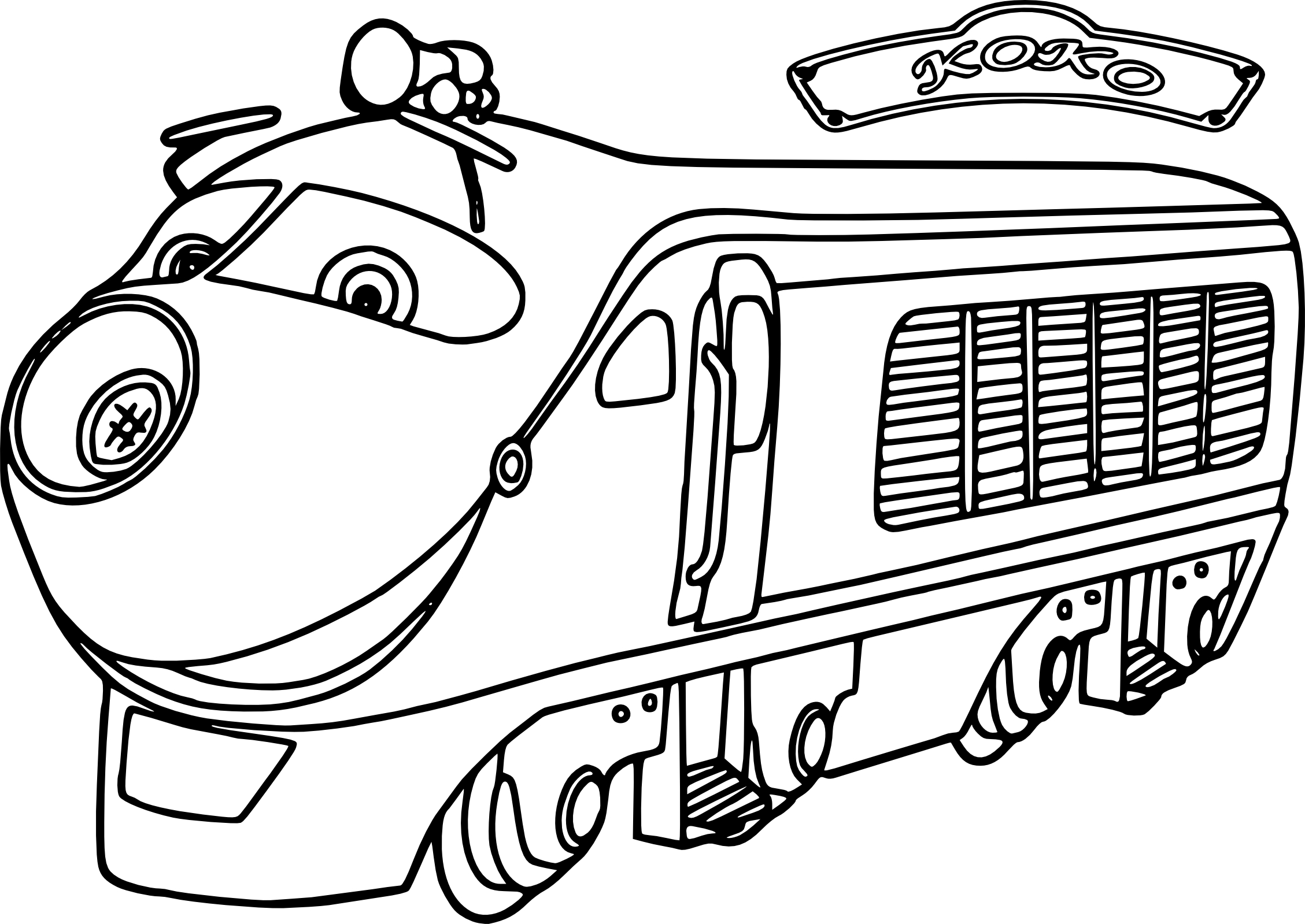 Coloriage Chuggington Koko