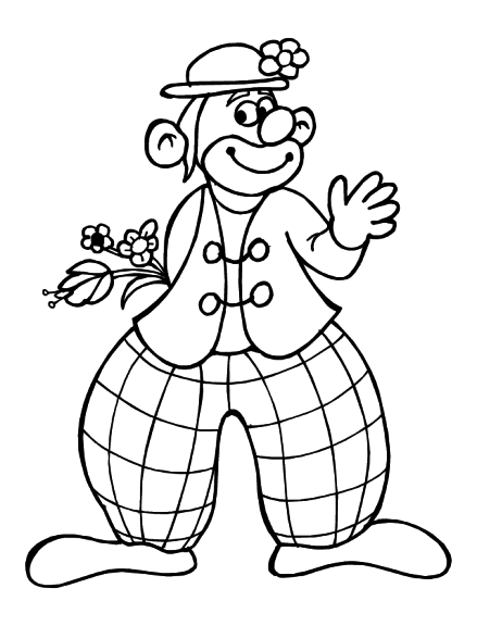 Coloriage Clown marrant