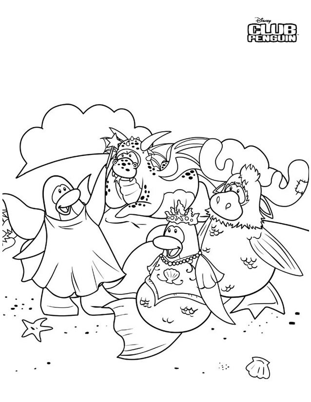 Coloriage Club Penguin