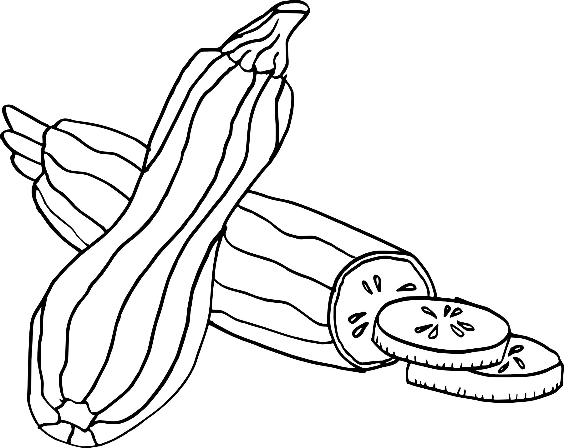 Coloriage courgette