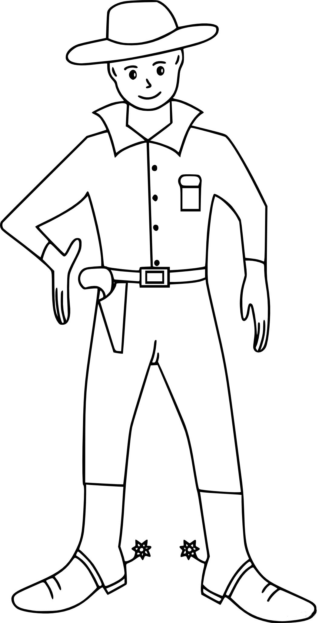 Coloriage cow boy imprimer - Dessin de cowboy ...