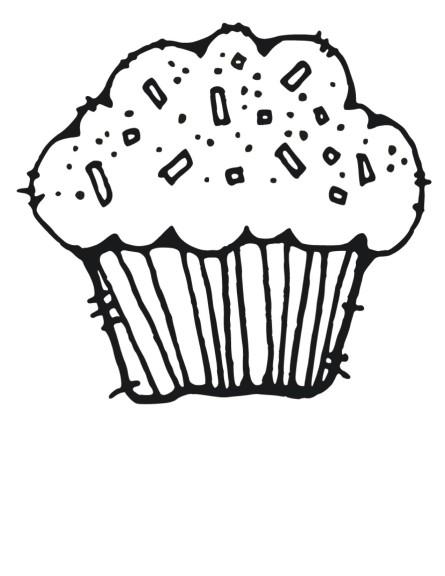 Coloriage cupcake au chocolat