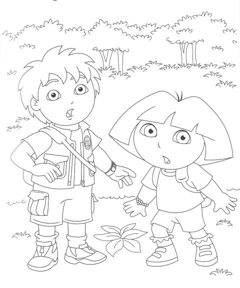 Coloriage Diego et Dora