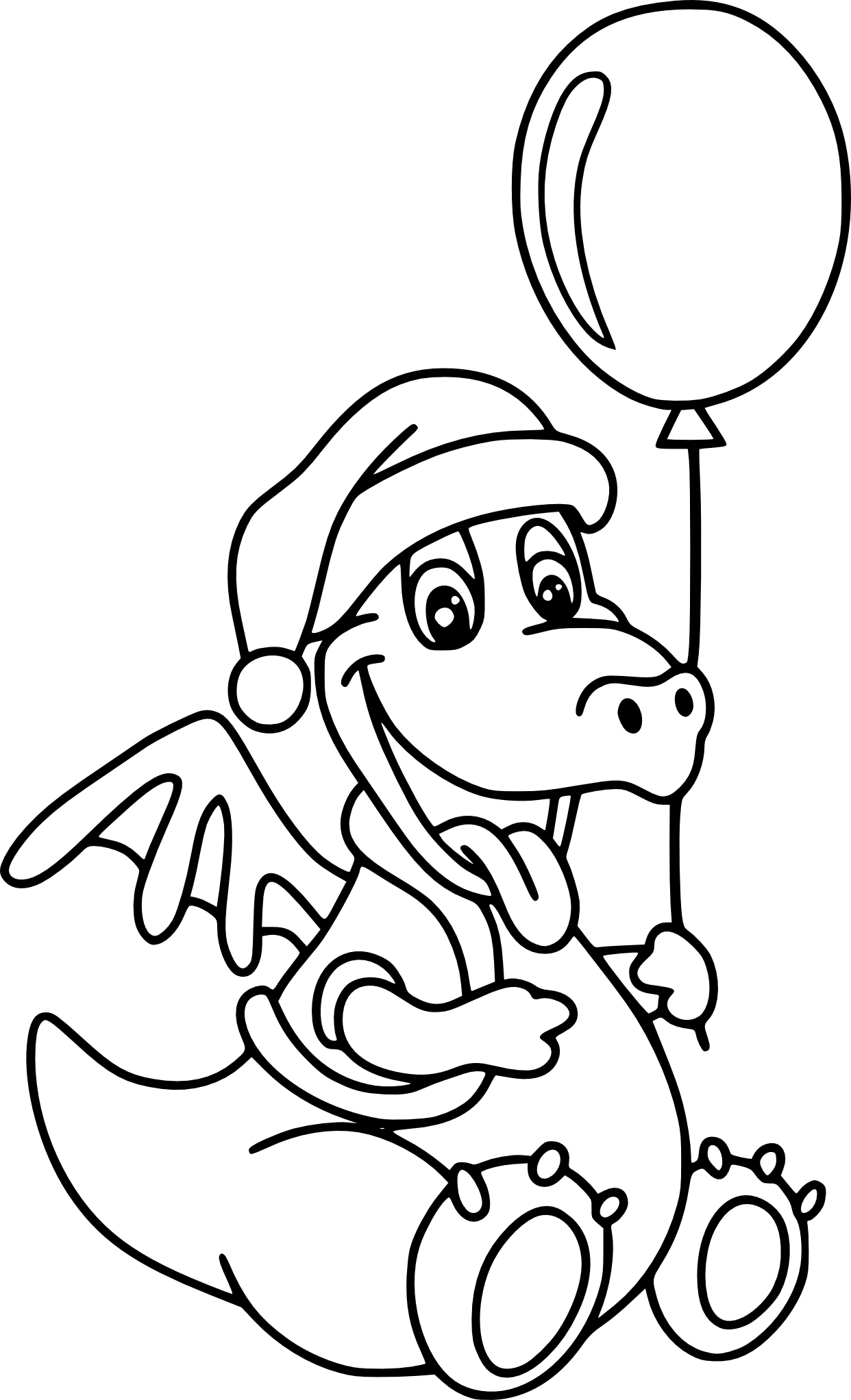 Coloriage dragon ballon