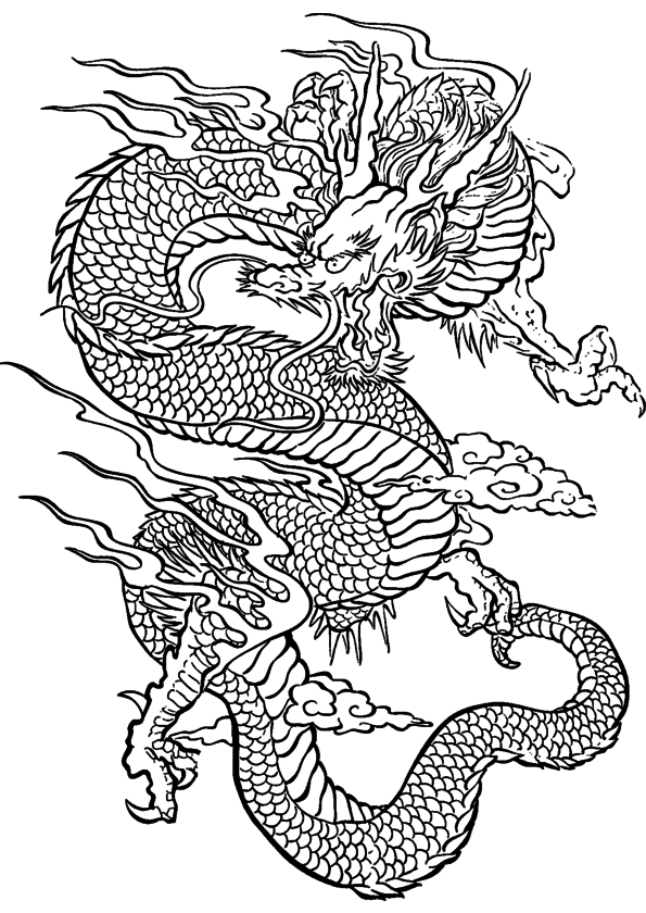 Coloriage dragon chinois imprimer - Coloriages de dragons ...