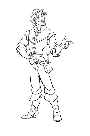 Coloriage Flynn Disney