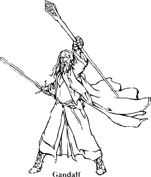 Coloriage Gandalf