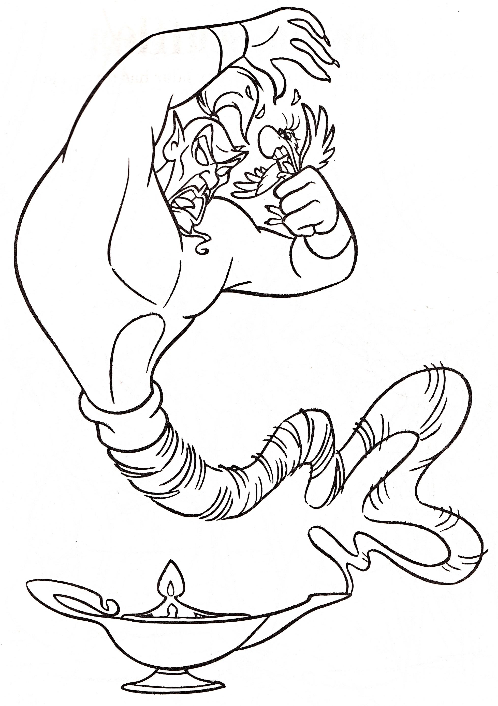 Coloriage genie Jafar