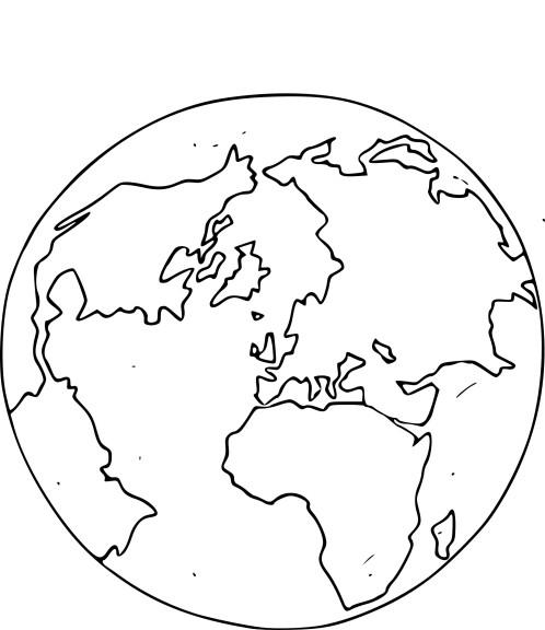Coloriage globe terrestre à imprimer