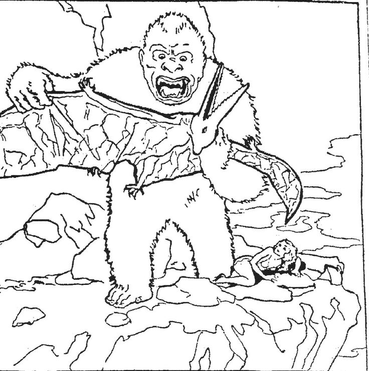 Coloriage gorille King Kong